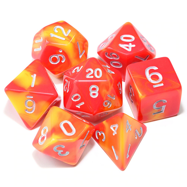 D&D Dice 7pcs Set - Mixed Colour