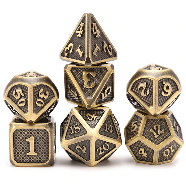 Premium Dragon Scales Metal Dice 7pcs Set