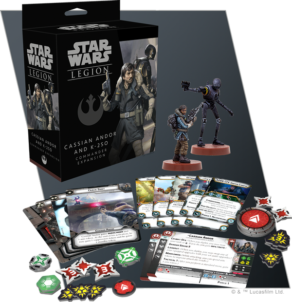 Star Wars Legion Cassian Andor and K-2SO Commander Expansion