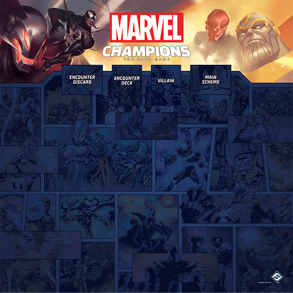 Marvel Champions LCG 1-4 Player Game Mat