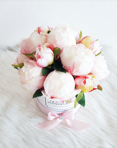 Pink Peonies Flower Box - Classic