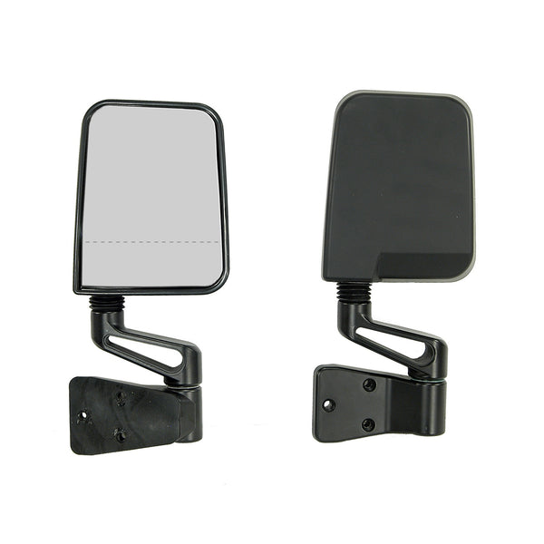 Door Mirror Kit, Dual Focus, Black; 87-02 Jeep Wrangler YJ/TJ - 11017.01