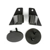 Mirror Relocation Bracket Kit, Textured Black; 07-18 Jeep Wrangler JK - 11025.07