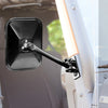 Quick Release Mirror, Rectangular, Black; 97-18 Jeep Wrangler - 11025.13