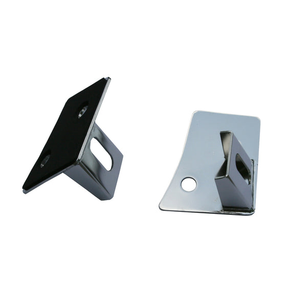 Light Mounting Brackets, Windshield, Stainless Steel; 07-18 Jeep Wrangler JK - 11028.03