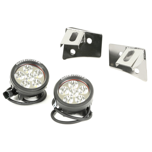 Light Kit, Windshield Mounted, Stainless Steel, Round; 07-18 Jeep JK - 11028.11