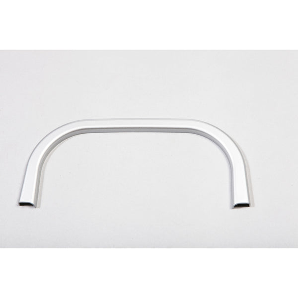 Cup Holder Trim, Rear, Brushed Silver; 07-10 Jeep Wrangler JK - 11151.18
