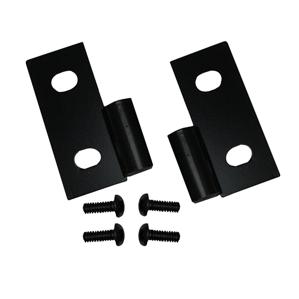 Door Hinge Brackets, Lower, Black; 76-06 Jeep CJ/Wrangler YJ/TJ - 11202.03