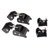 Hood Catch Kit, Black; 07-18 Jeep Wrangler JK - 11210.11