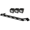 Light Bar Kit, Hood Mounted, 3 Square; 07-18 Jeep Wrangler JK - 11232.04