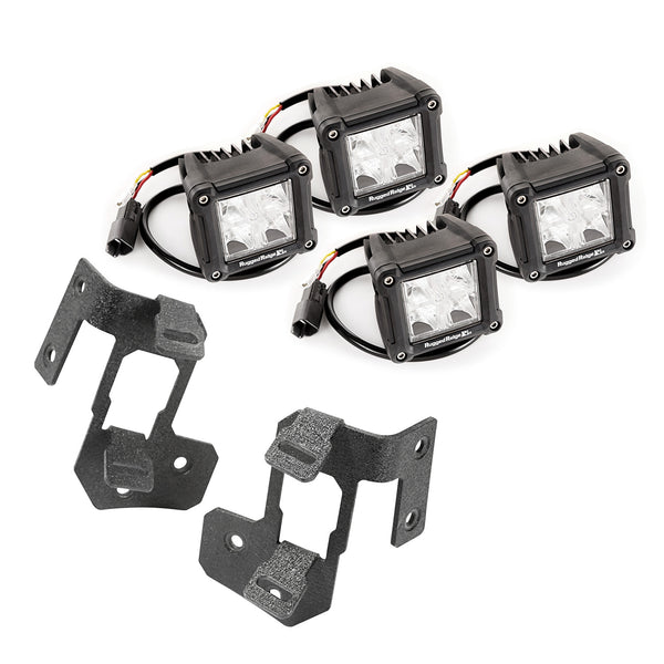 Light Kit, A-Pillar Mounted, Dual Beam, Square; 07-18 Jeep Wrangler JK - 11232.19