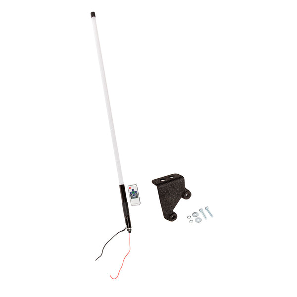 Lighted Whip, RGB, 39 Inches (1Meter), W/Bracket, 07-18 JK - 11250.22