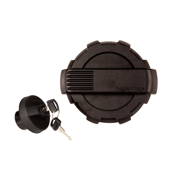 Elite Gas Cap Door/Cap Kit, Locking, Black; 07-18 Jeep Wrangler JK - 11425.16