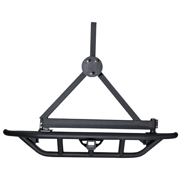 RRC Bumper Spare Tire Carrier, Rear, 2 Inch Hitch; 87-06 Jeep Wrangler YJ/TJ - 11503.13