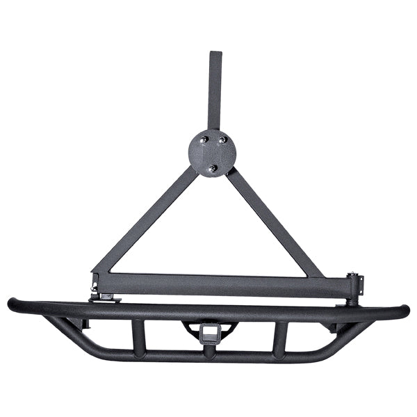RRC Bumper Spare Tire Carrier, Rear, Black; 87-06 Jeep Wrangler YJ/TJ - 11503.60