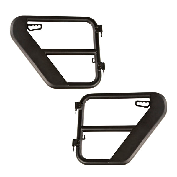 Fortis Tube Doors, Rear, Textured Black; 18-Up Jeep Wrangler / 20-Up Gladiator JT - 11509.14