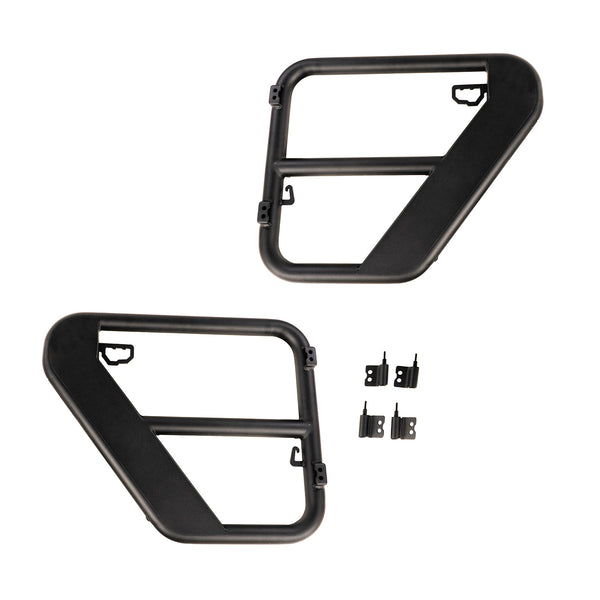 Fortis Tube Doors, Rear, 07-18 Jeep Wrangler JK 4-Door - 11509.32