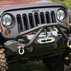 XHD Bumper Double X Striker, Black; 76-86 CJ/87-18 Jeep Wrangler YJ/TJ/JK - 11540.25