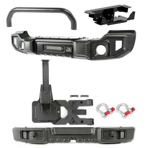 Spartacus Bumper Kit, Front/Rear, Tire Carrier; 07-18 Jeep Wrangler JK - 11544.63