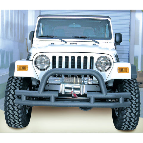 Double Tube Bumper, Front, 3 Inch, Hoop, Winch Ready; 76-06 CJ/YJ/TJ - 11561.03