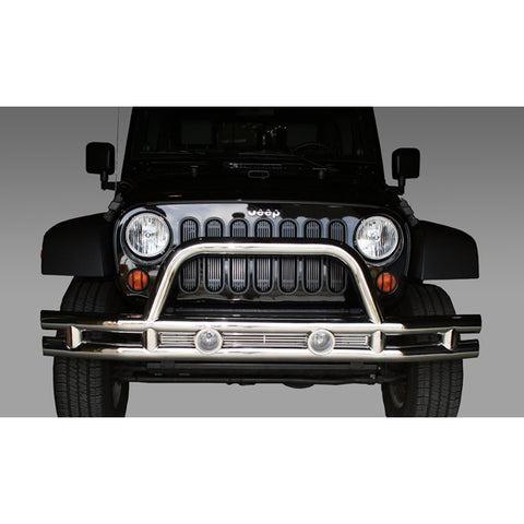 Tube Bumper, Front, 3 Inch, Stainless Steel; 07-18 Jeep Wrangler JK - 11563.10