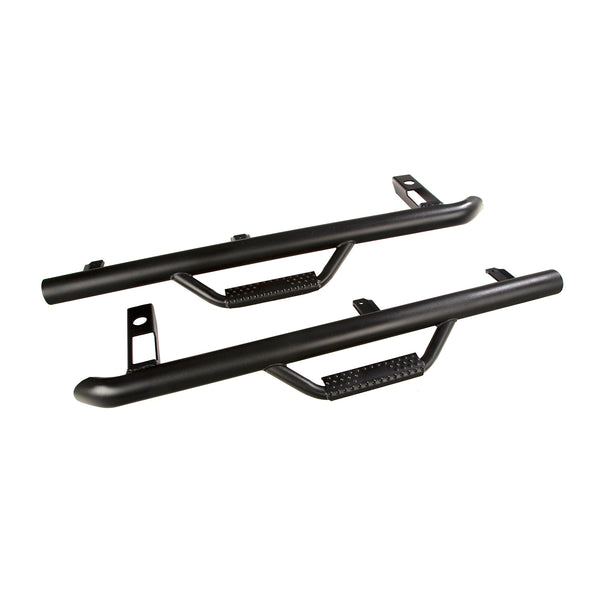 Spartan Nerf Bar Kit, Textured Black; 97-06 Jeep Wrangler TJ - 11596.11