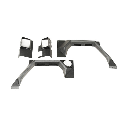 XHD Armor Fender Kit, Rear, Pair; 07-18 Jeep Wrangler JK, 2 Door - 11615.03
