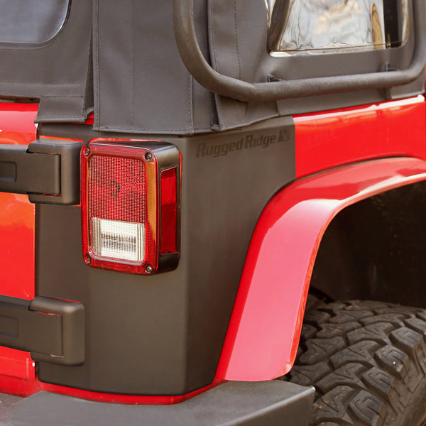 Body Armor Kit, Rear Quarter Panels; 07-18 Jeep Wrangler JK, 2 Door - 11651.07
