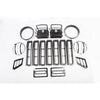 Euro Guard Kit, Black, 17 Piece; 97-06 Jeep Wrangler TJ - 12495.03