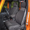 Seat Cover Kit, Front, Neoprene, Black; 11-18 Jeep Wrangler JK - 13215.01