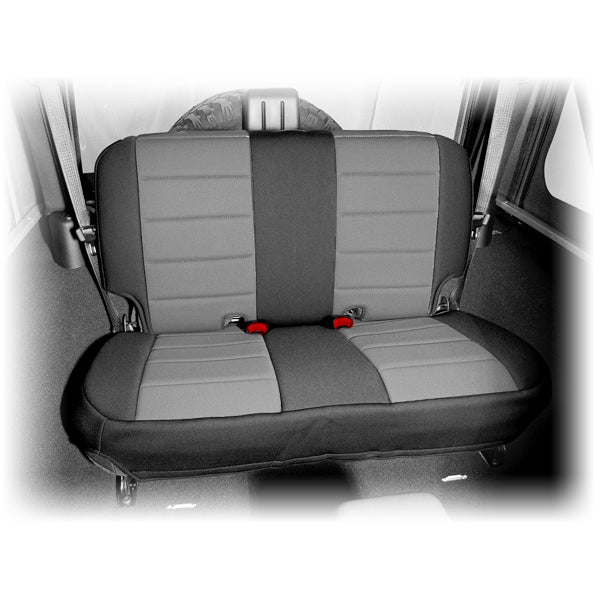 Seat Cover, Rear, Neoprene Black/Gray; 07-18 Jeep Wrangler JK - 13265.09
