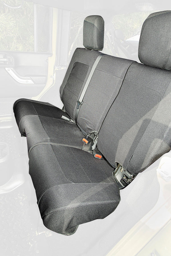 Elite Ballistic Seat Cover, Rear, Black; 11-18 Jeep Wrangler JKU, 4 Door - 13266.04