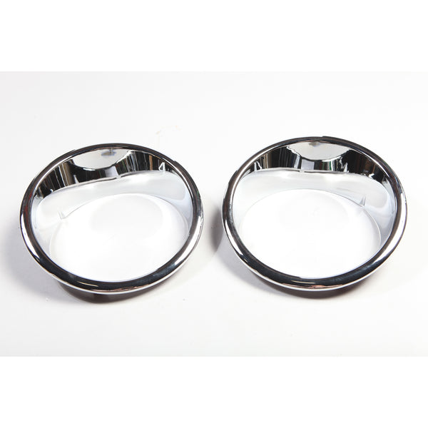 Headlight Bezel Kit, Chrome; 07-18 Jeep Wrangler JK - 13311.20