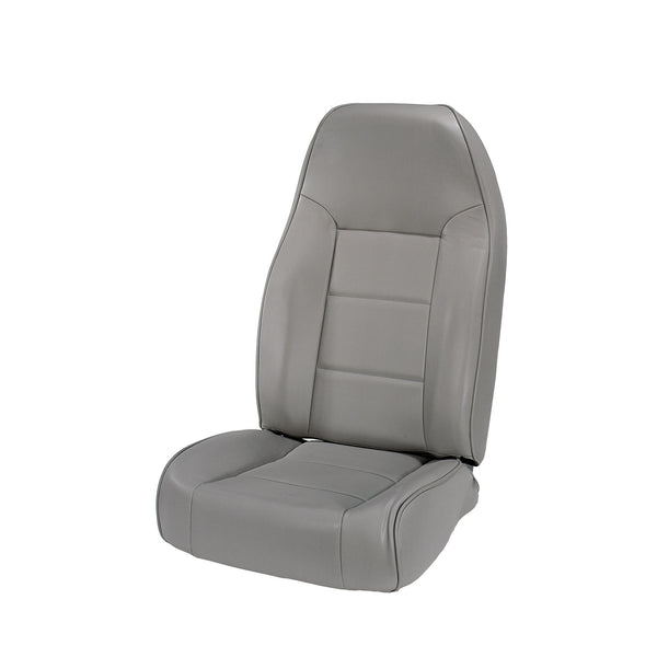 Seat, High-Back, Front, No-Recline, Gray; 76-02 Jeep CJ/Wrangler YJ/TJ - 13401.09