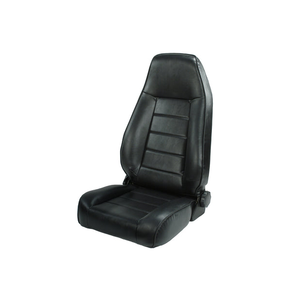 Seat, High-Back, Front, Reclinable, Black; 76-02 Jeep CJ/Wrangler YJ/TJ - 13402.01