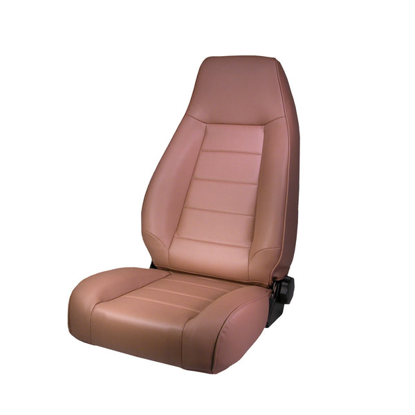 Seat, High-Back, Front, Reclinable, Tan; 76-02 Jeep CJ/Wrangler YJ/TJ - 13402.04