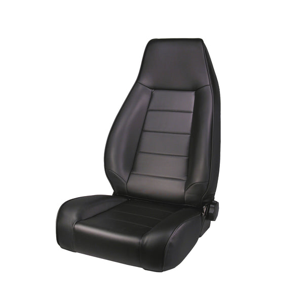 Seat, High-Back, Front, Reclinable, Black Denim; 76-02 Jeep CJ/Wrangler - 13402.15