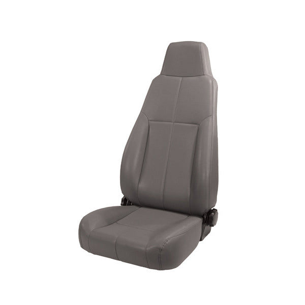 Seat, High-Back, Front, Reclinable, Gray; 76-02 Jeep CJ/Wrangler YJ/TJ - 13403.09