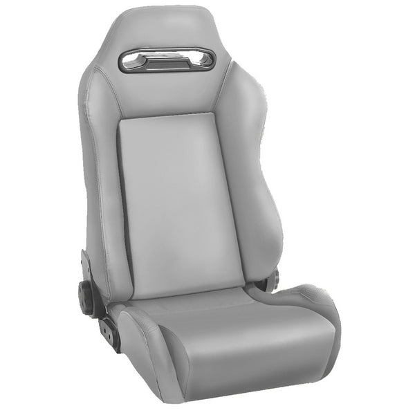 Sport Seat, Front, Reclinable, Gray; 76-02 Jeep CJ/Wrangler YJ/TJ - 13405.09