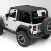 Island Top, Mesh, Black; 10-18 Jeep Wrangler JKU, 4 Door - 13579.13