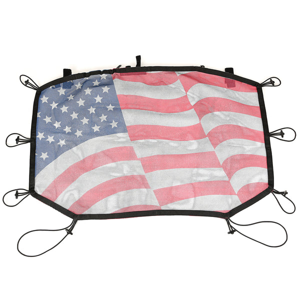 Eclipse Sun Shade, Front, American Flag; 07-18 Jeep Wrangler JK - 13579.14