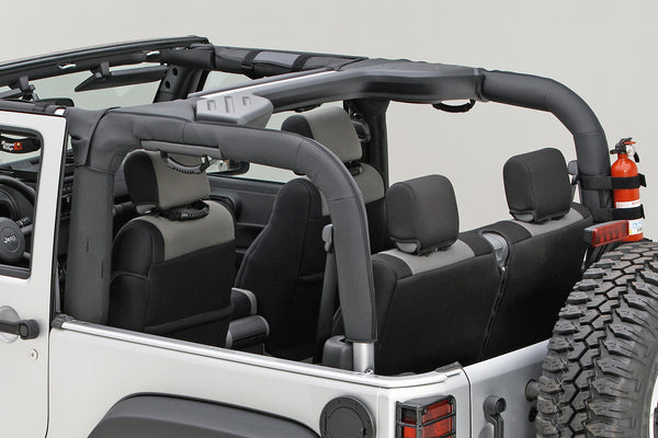 Roll Bar Cover, Black Vinyl; 07-18 Jeep Wrangler JK - 13613.06