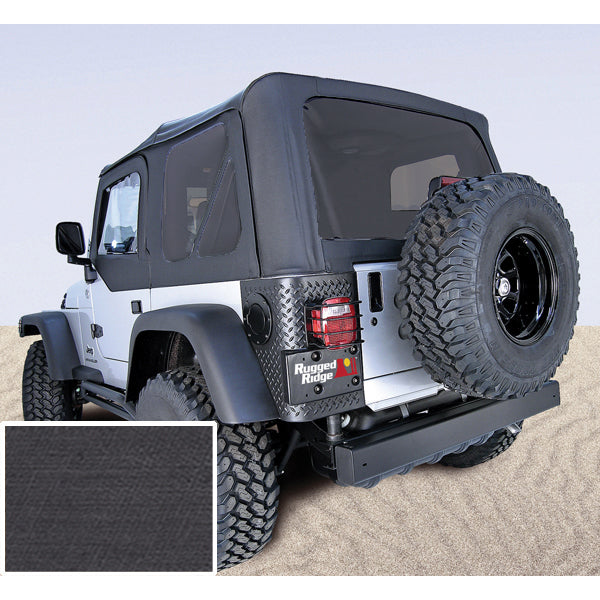 Soft Top, Door Skins, Black, Tinted Windows; 97-02 Jeep Wrangler TJ - 13704.15