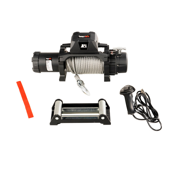 Trekker Winch, 10,000 LBS, Cable, IP68 Waterproof, Wired Remote - 15100.07
