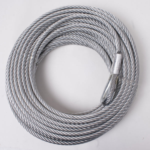 Winch Cable, 23/64 Inch x 94 feet, Steel - 15103.02