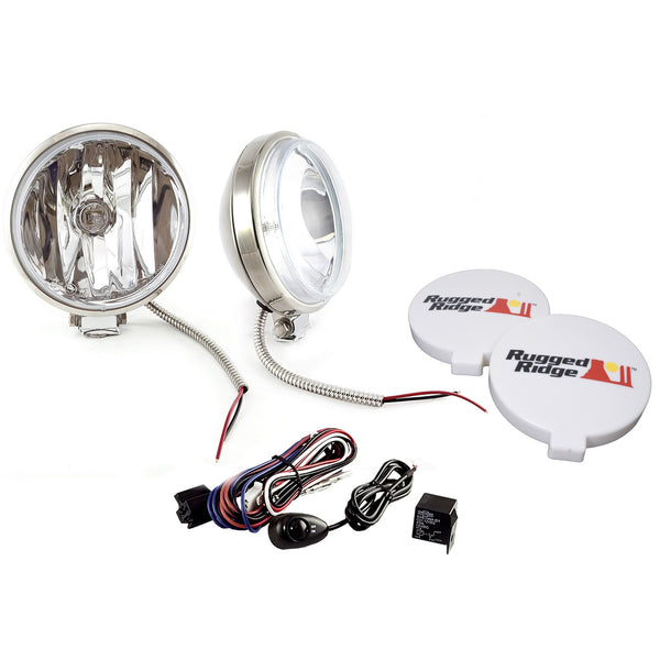 Light Kit, Halogen, 6 Inch Slim, Stainless Steel Housing, 2 Piece - 15208.58