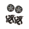 Light Kit, X-Clamp/Round LED, Large, Black, 2 Pieces - 15210.05