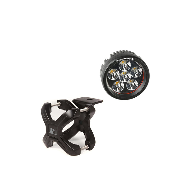 Light Kit, X-Clamp/Round LED, Small, Black, 1 Piece - 15210.24