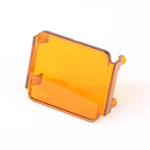 Light Cover, 3 Inch, Square, Amber - 15210.67
