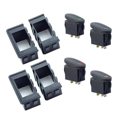 Switch Housing Kit, 8 Piece, Rocker Style Switches - 17235.89
